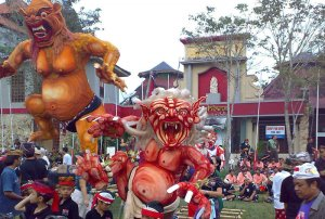 A very limited Ogoh Ogoh Parade will go ahead but tourists are not invited