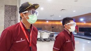 Denpasar Airport disinfected in fight against Covid-19