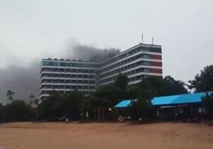 Sanur's Grand Inna Bali Beach Hotel burns