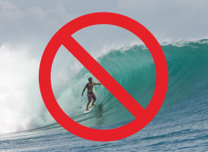 Surfs up on Bali, but not for the local surfers